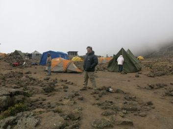 Greg at Mawenzi Tarn Camp