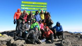 Team on summit