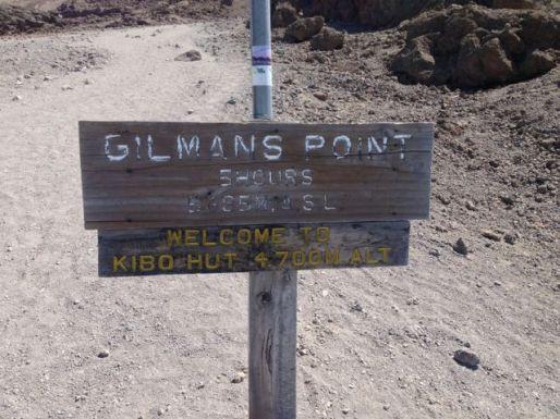 Signpost at Kibo