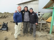 Bush, Gary and Derek at Mawenzi Tarn Camp